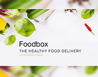 Foodbox. Landing page for Healthy Food Delivery