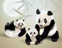 Panda. Furry characters