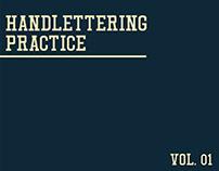Handlettering Practice - Vol.01