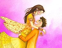 Tanvi & Satish Wedding invite
