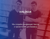DIALOGUE — agency selling texts