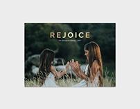 Christmas Card Template - Rejoice