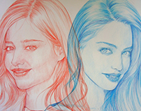 Ballpoint pen-Miranda May Kerr #2