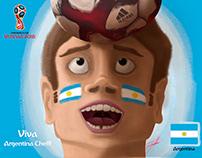 Copa del Mundo Rusia 2018!!! Viva Argentina