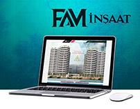 Fam İnşaat Web Arayüz Tasarım-Yazılım