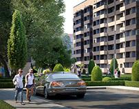 The residential complex in Krasnodar