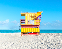 Lifeguard Chairs of South Beach, Miami