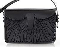 Swan pattern for Fierce Forms clutch bag