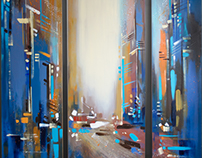 """Oil painting """"CITY"""""""