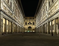 Uffizi Gallery by night