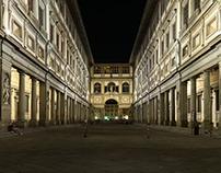 Uffizi Gallery by night