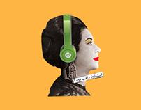 pop art um kolthoum