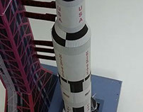Saturn V Rocket and Launch Pad Scale 1:300