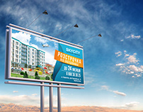 Outdoor advertising for residential complex