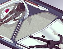 Interior of a self driving Rolls Royce - BMW internship