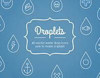 Droplets Vector Icons
