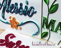 Quilling Lettering