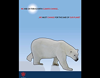 """""""Thin Ice"""" graphic for climate change awareness"""