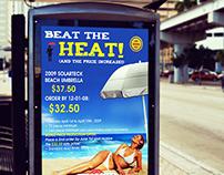 "Windbrella ""Beat the Heat"" Ad Design"