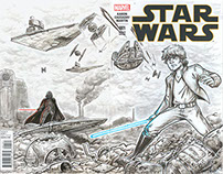 Star Wars - Illustrated Variant Cover
