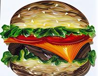 Paper Quilled Hamburger #2