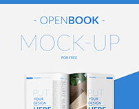 Free Open Book Mock-up