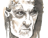 Retrato con vino Christopher Lee