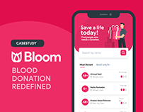 bloom - blood donation app casestudy
