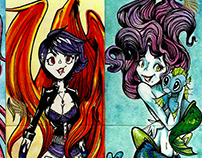 Beauty&The Myth sketchcards