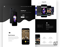 OnePlus 5 Landing Page Concept