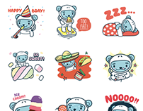 Jōkūkuma stickers for messaging apps