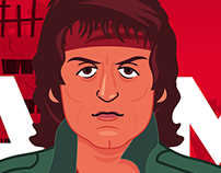 RAMBO ILLUSTRATION