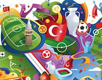 EURO 2016 Turkey National Team Poster