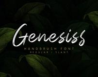 Genesiss | Handbrush Font (Free Demo Version)