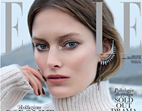 ELLE Serbia January 2017 Cover and story
