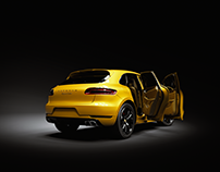 3D Render of Porsche Macan Turbo 2015