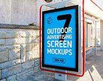 Outdoor Advertising Screen Mock-Ups