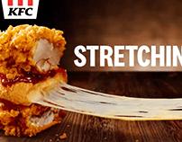 KFC Mozzarella Zinger Double Down Burger Print & *Video
