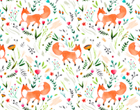 Fox print design