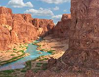Gran Canyon. 3d