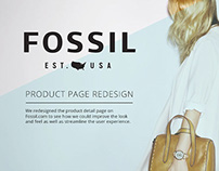 Fossil Product Page Concept