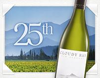 Cloudy Bay - 25th Anniversary Site Design