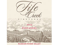 Fife Creek Vineyards Label Illustrated by Steven Noble