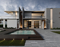 Modern Villa. Exterior 3dVisualization.
