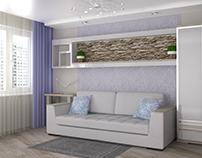 Дизайн-проект интерьера гостиной, г. Минск