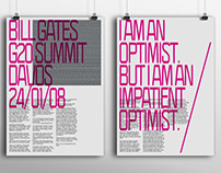 Bill Gates G20 Summit Davos — Posters