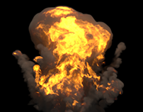 Fire Simulations and Renders