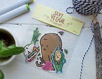 sexy veggie sticker pack