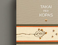 "Book ""Takai per kopas"" design"