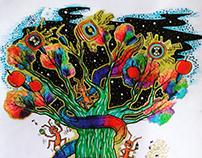 Life color tree